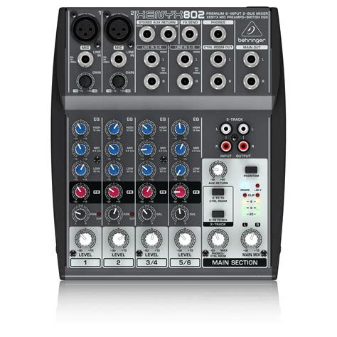 Mixer Audio Monitor Ma801s 8 Channel behringer xenyx 802 mixer at gear4music