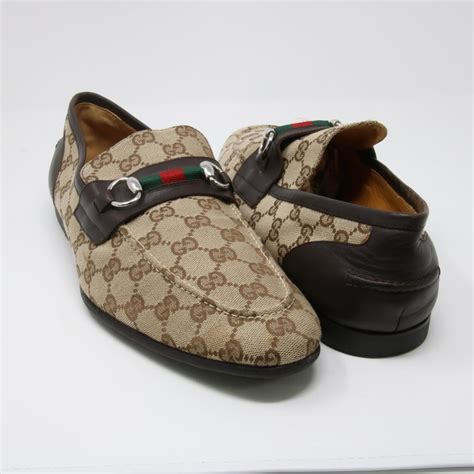 Gucci 618 Basic Heels gucci monogram horsebit signature guccissima canvas s brown slip on loafers flats size us 12