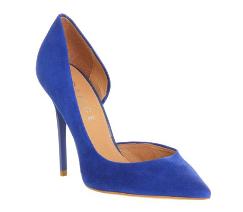 cobalt high heels office
