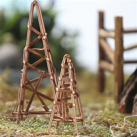 cone trellis miniature copper wire cone trellis set garden