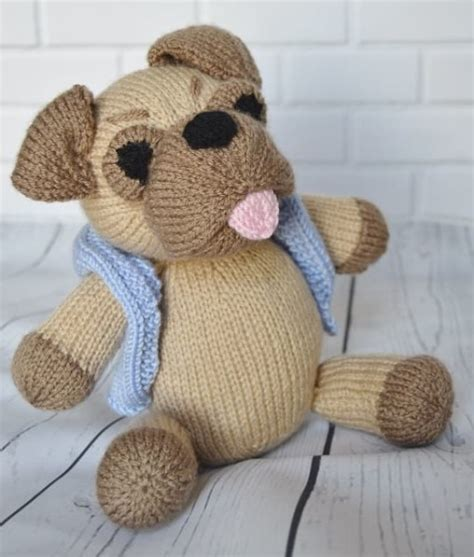 pug knitting pattern pug knitting by post