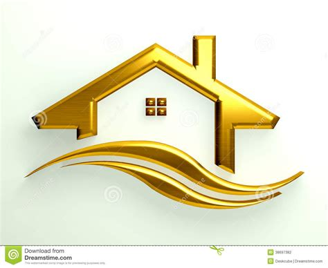 Home Design Gold Houses | stock photography gold house with waves image 38697382