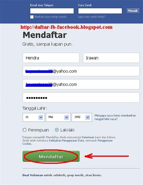 Fb Daftar Baru | cara daftar facebook baru daftar fb seputar facebook