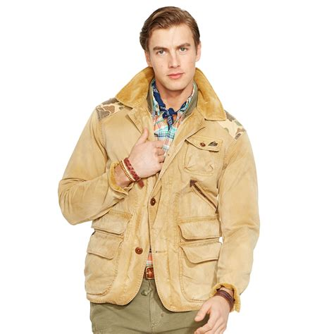 Brown Canvas Jacket polo ralph removable vest canvas jacket in brown