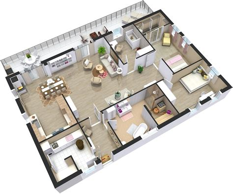 1 Room Floor Plans 3d - home plans 3d roomsketcher