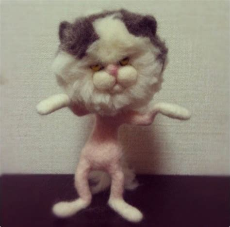 Grumpy Cat is Not Pleased After Japanese Wool Felt Artist
