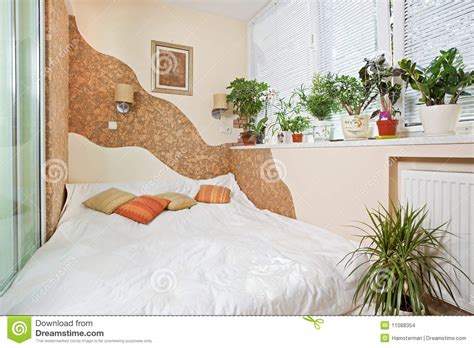 sunny bedrooms sunny bedroom on balcony interior with window stock images image 11088354