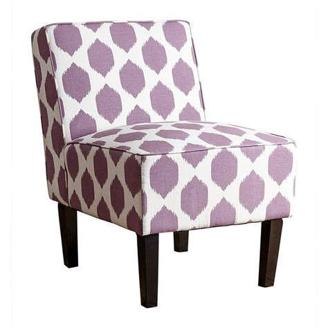 Purple Accent Chair Fiona Patterned Fabric Accent Chair In Purple Mw 6705 Prp