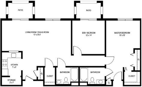 large apartment floor plans two bedroom c