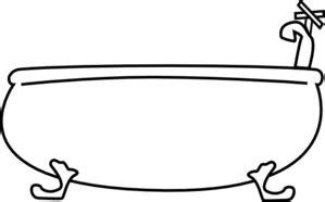 bathtub outline tub clip art at clker com vector clip art online