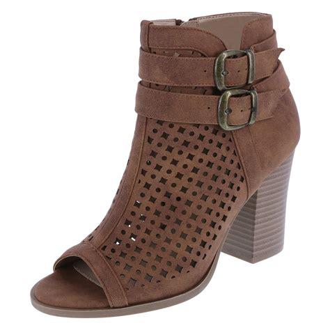 Questionable Trend Alert Open Toed Booties by Suede Boots For Tsaa Heel