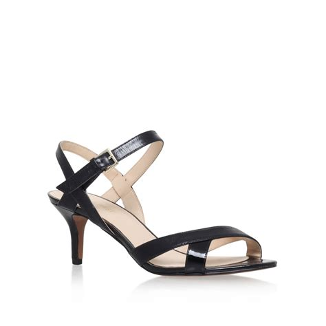 high heels nine west nine west genevra high heel sandals in black lyst