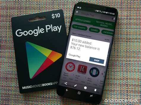 how to use a google play gift card android central - How To Use A Google Play Gift Card