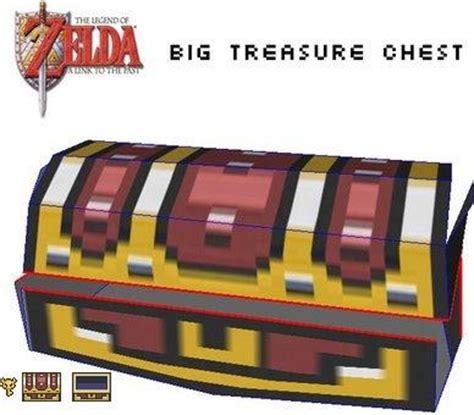 Treasure Chest Papercraft - snes big tresure chest papercraft papercraft