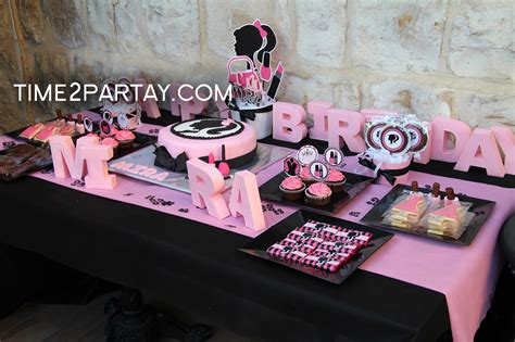 birthday themed makeup a fashion makeup themed birthday party time2partay com