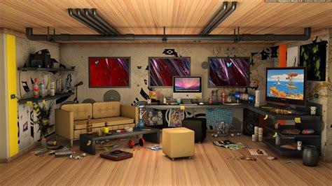 hall interior cartoon HD wallpaper
