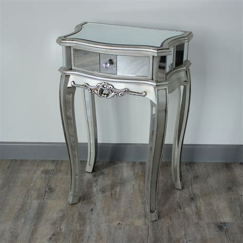 Silver Bedside Table Ls New Range Silver Mirrored Bedside Table Melody