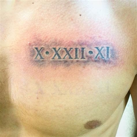 numeral chest tattoo quick draw tattoos tattoo spring valley las vegas