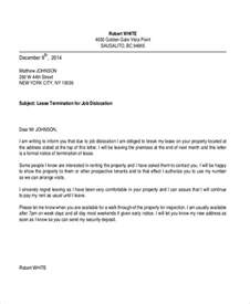 Letter To Terminate Apartment Lease by Sle Termination Letter 8 Free Documents In Pdf Doc