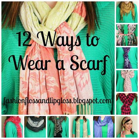 how to wear a scarf 12 different ways ways to wear a