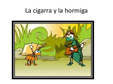 la cigarra y la hormiga