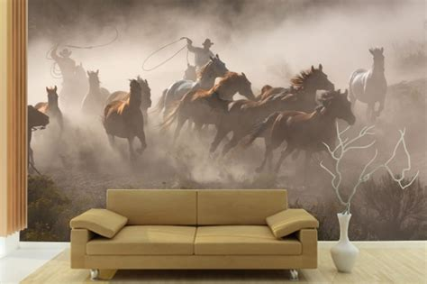 cowboy horses wall mural wwwpricklypearcasacom