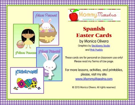 pinterest printable note cards mommy maestra free spanish easter themed note cards