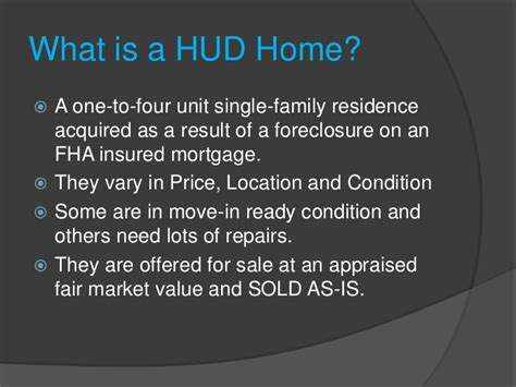 successfully selling hud homes