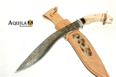 Handmade Kukri - indonesia knives collection aquila damascus custom