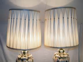 shades for hollywood lights pair of hollywood regency pinch pleated white drum