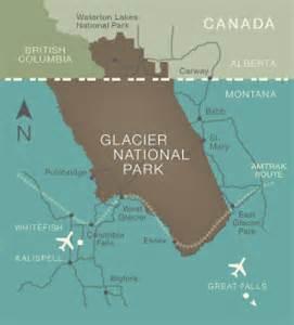 glacier national park canada map montana shaped by glaciers