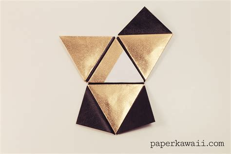 Origami Modular Box - modular origami pyramid box tutorial paper kawaii