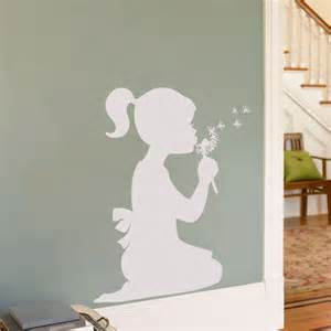 little girl with dandelion wall decal sticker graphic homepage almo art swing