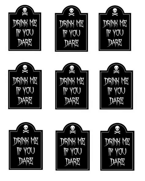 printable drink tags drink me if you dare free printable halloween tags i dig