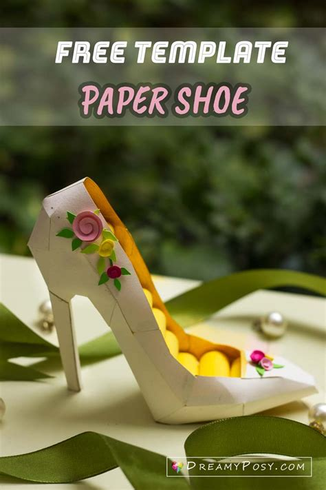 How To Make A Paper High Heel Shoe - how to make a paper 3d high heel shoe free template14