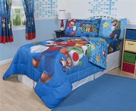 nintendo comforter set nintendo super mario fresh look sheet set home bed