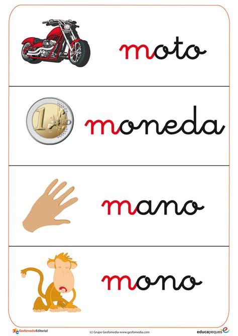 imagenes que inicien con la letra m fichas de vocabulario con la letra quot m quot