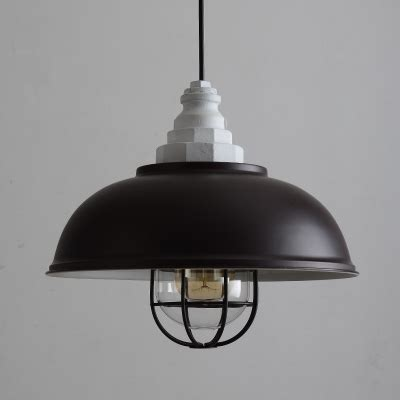 industrial cage pendant light industrial cage pendant light with 14 quot bowl shade