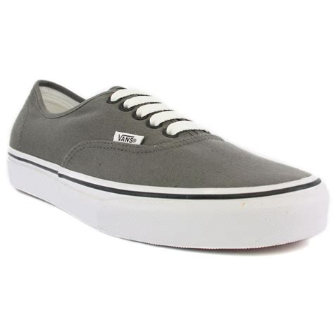 vans authentic womens canvas grey trainers new shoes all