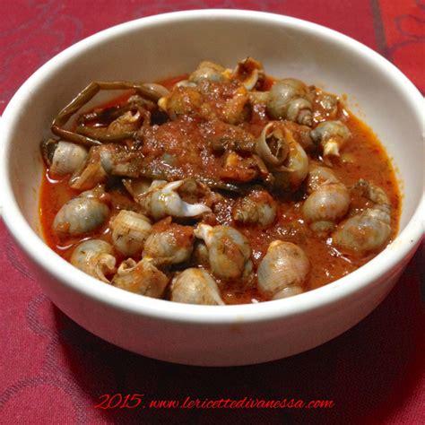 lumachine di mare come cucinarle le ricette marchigiane le ricette di