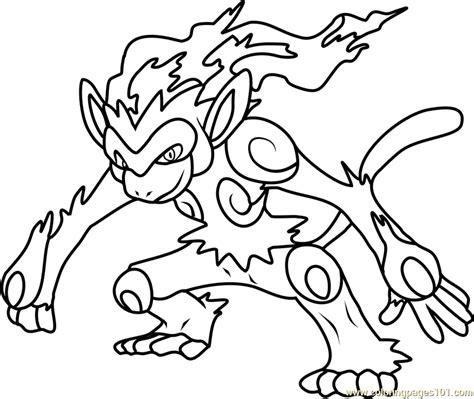 infernape pokemon coloring page free pok 233 mon coloring