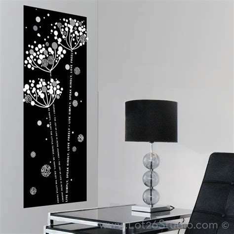 black and white wall stickers black and white wall decals top dandelion wall sticker choices playfully stylish and with