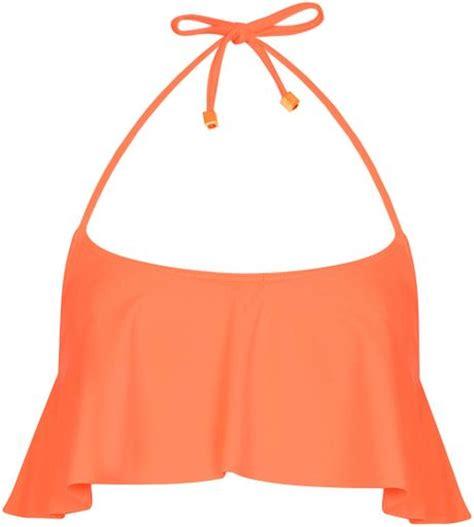 Shelf Swimsuits by Topshop Orange Shelf Top In Orange Lyst