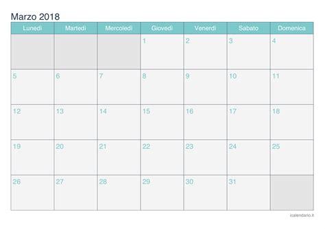 Calendario Lunar Marzo 2018 Calendario Marzo 2018 Da Stare Icalendario It