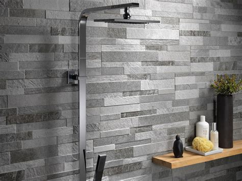 Stone effect porcelain stoneware wall covering cubics ceramica rondine