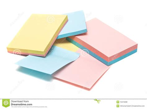 colored pages of notebook royalty free stock photos
