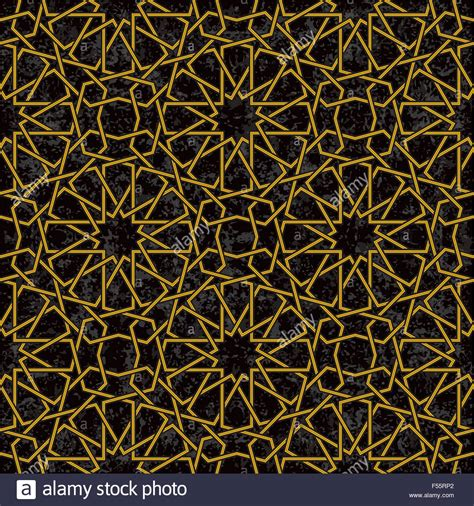 arab star pattern gold line star pattern background in arabic style vector