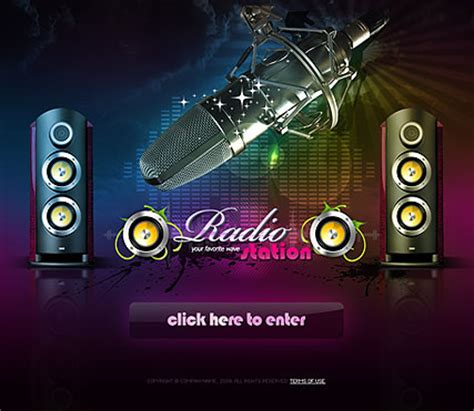 radio templates radio station dynamic easy flash template html5 web