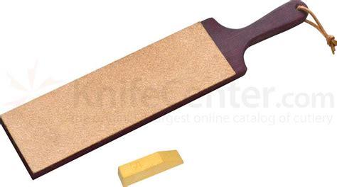 leather paddle strop flexcut 10 quot x 3 quot dual sided leather paddle strop w