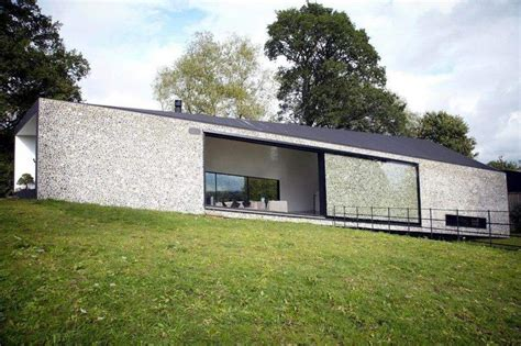 grand designs sliding house beautiful flint faced facade with amazing glass sliding
